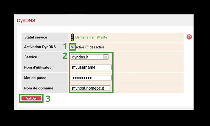 Configurazione dynDNS.it per SFR - dynDNS.it - DNS dinamico gratuito